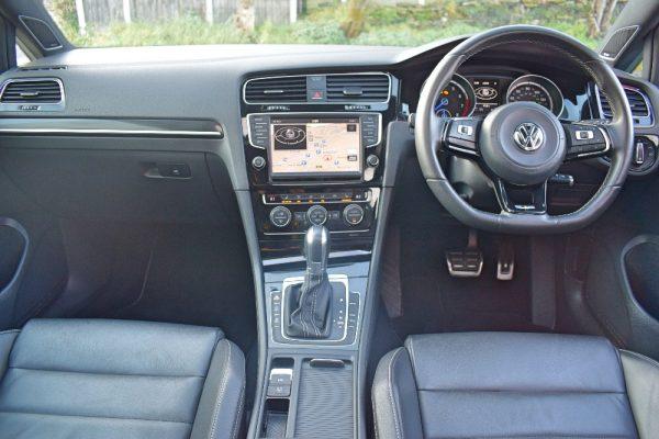 VW Golf R Interior Full Dashboard from Rear Seats