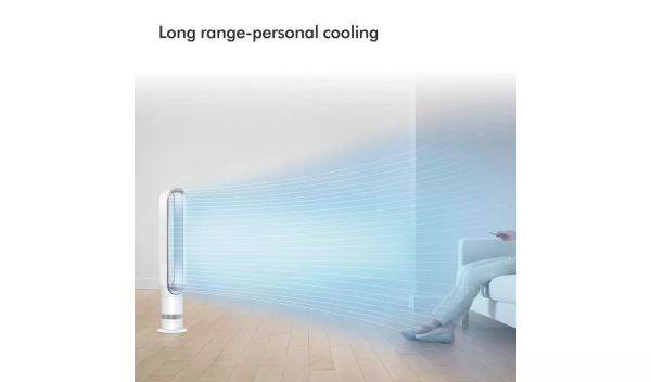 Dyson fan long range cooling