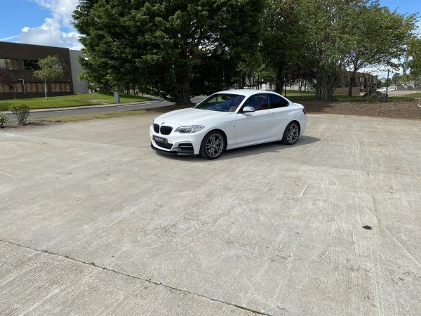 External Front Right half Zoom of BMW M235i to Win at Purple Prizes