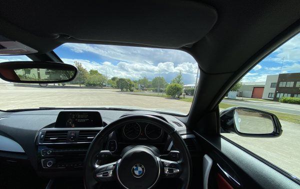 Interior Steering Wheel of BMW M235i Wide Angle Dream Car Giveaway