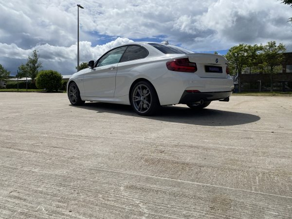 Win a BMW M235i - rear external right low